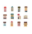 set icons houses in two floors vector image vector image