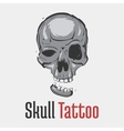 Skull tattoo with separated smiling jaw vector image vector image