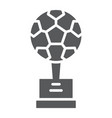 soccer cup glyph icon sport and award goblet vector image vector image