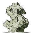Stone dollar sign vector image vector image