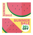 summer sale banner with beautiful watermelon vector image vector image