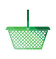 supermarket shoping basket icon vector image