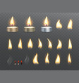 tea candles and fire flame effects vector image