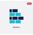 two color brickwall icon from construction vector image vector image