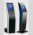 two promotional interactive information kiosk vector image vector image