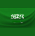 waving national flag of saudi arabia vector image
