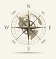wind rose navigation emblem vector image