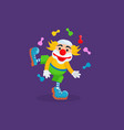 clown entertains and amuses the audience vector image
