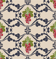 Decorative pattern with grapes vector image