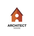 letter a house concept building with door vector image