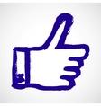 thumb up blue hand symbol vector image