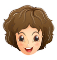 A face of a smiling teenager vector image vector image