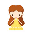 a girl character in yellow dress vector image
