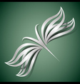 Abstract butterfly 3d vector image vector image