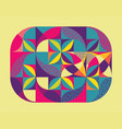 abstract colorful geometric design color vector image vector image