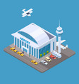 airport isometric concept with passengers vector image