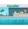aqua bar in waterpark vector image