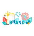 banner concept brand branding vector image vector image