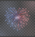 Beautiful heart-firework bright romantic firework