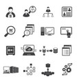 big data icon set business finance vector image vector image