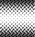 Black and white curved shape pattern background vector image vector image