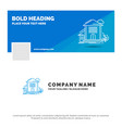 blue business logo template for home house vector image