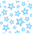 blue stars seamless pattern vector image
