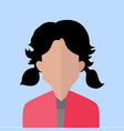 bonded hair women portrait vector image