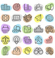 busines finance trendy new icon set eps10 vector image vector image