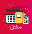 calendar folder file email document office vector image vector image