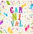 carnival greeting card vector image vector image