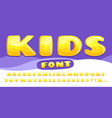 cartoon chubby font kids game alphabet child vector image vector image