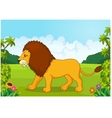 Cartoon lion from the side vector image vector image