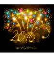 Celebration background with a beautiful gold 2016 vector image vector image