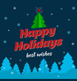 christmas and new year card with mistletoe and vector image