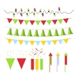 Christmas decoration set for Christmas tree and vector image