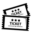 cinema ticket icon simple black style vector image