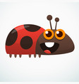 cute cartoon ladybug vector image