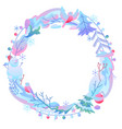 decorative frame with winter items vector image vector image