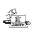 digital banking services online tools laptop black vector image vector image