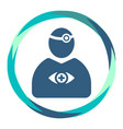 doctor icon with reflector tool and eye in frame vector image vector image