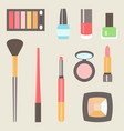 flat beauty fashoin decorative cosmetics vector image vector image