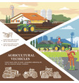 flat farming colorful template vector image vector image
