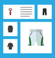 flat icon garment set of trunks cloth uniform vector image