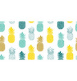 fresh blue yellow pineapples repeat vector image vector image