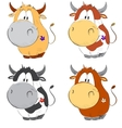 Funny cows cartoon set vector image vector image