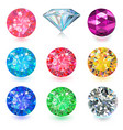gemstone jewerly set vector image vector image