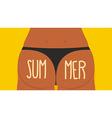 Girl Tan Ass in panties Summer Bikini S vector image vector image
