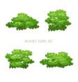 green bush nature set vector image