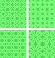 Green seamless pattern background set vector image vector image